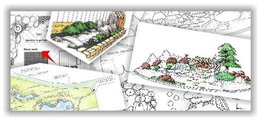 Elegant progetti giardini disegni preventivi giardini for Disegnare giardini